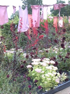 La lessive de fleurs, Chaumont 2009, linge rouge