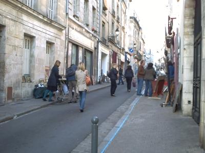 les peintres dans la Grand'rue à Poitiers