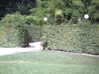 Chaumont 2009, jardin 10, vu de l'extérieur