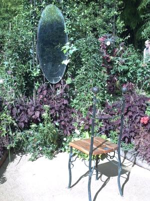Chaumont 2009, jardin 10, un miroir