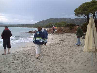 La plage de Palombagio après l'orage