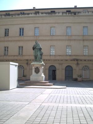 La cour du musée Fesch à Ajaccio