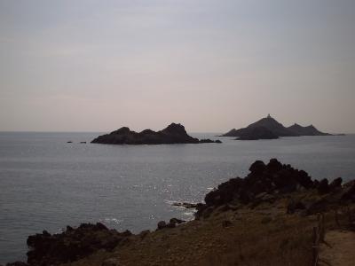 Les îles Sanguinaires vues de l'extrémité de la pointe