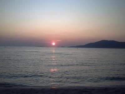 le coucher de soleil sur les Sanguinaires