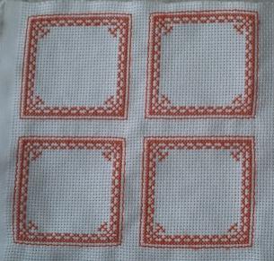 SAL biscornu à quinze faces, les quatre premiers contours