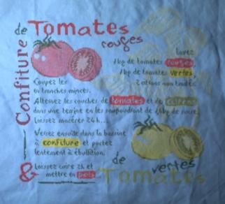 SAL confiture de tomates, la fin de la broderie