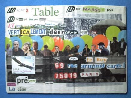 Doisneau-Prévert, ma carte autour de la Cène, recto