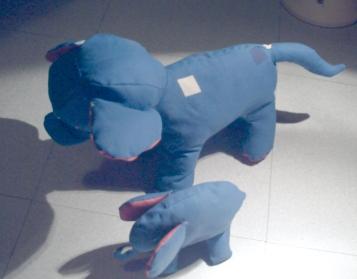 L'éléphante et son petit