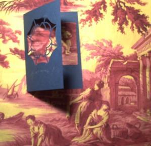 Tissu pour le Bai jia bei de Gigi et la carte
