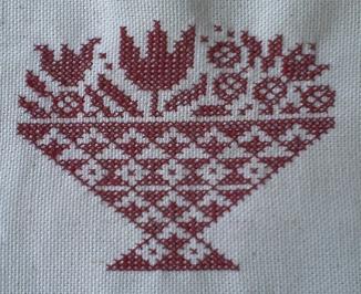 Vase brodé stylisé