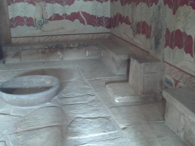 La Crête, Knossos, en 2008 : la salle du trône