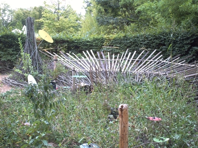 Le jardin n° 19 en plein travaux