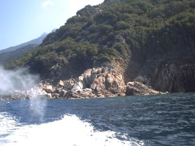 Les calanche, la pollution du bateau