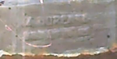 Signature de Durenne sur la fontaine de Corte