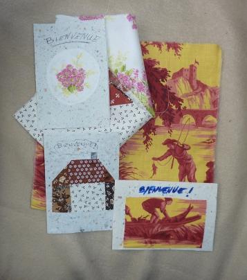 Tissus et cartes pour les Bai jia bei