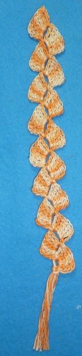 Marque-page dans les tons oranges