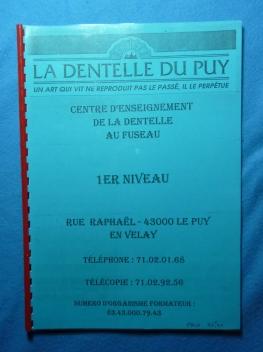 Méthode de dentelle du Puy