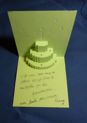 Mon anniversaire vu par Fany, la carte