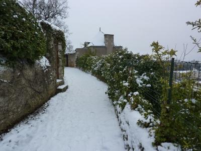 Poitiers sous la neige, le 20 décembre 2009 au matin : le chemin des crêtes