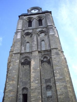 Tours, novembre 2009, basilique Saint-Martin : la tour de l'horloge