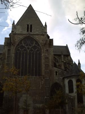 Tours, abbaye Saint-Julien, le chevet plat