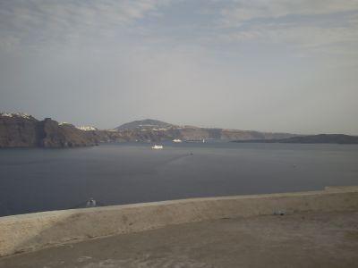 Santorin, le débarquement