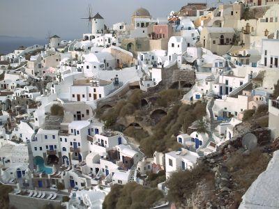 Santorin, le village de Fira