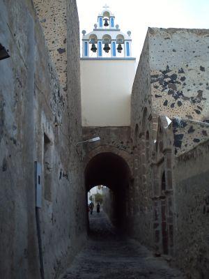 Santorin, le village de Fira, une ruelle calme