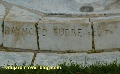 Poitiers, le monument au comte de Blossac par Sudre, 10, la signature