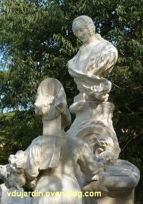 Poitiers, le monument au comte de Blossac par Sudre, 13, vu de trois quarts