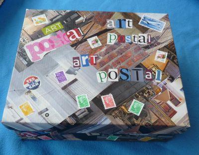 Boîte pour art postal, le dessus
