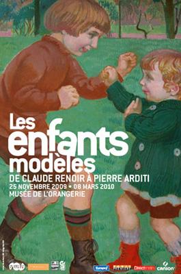 Affiche de l'exposition Les enfants modèles à l'Orangerie