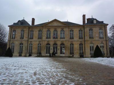 La façade antérieure, sur cour, du musée Rodin à Paris