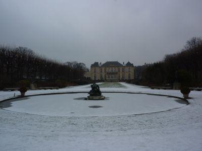 La façade postérieure, sur jardin, du musée Rodin à Paris