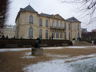 La façade postérieure, sur jardin, vue de près, du musée Rodin à Paris