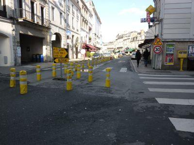 Poitiers, travaux rue Carnot, 31 janvier 2010