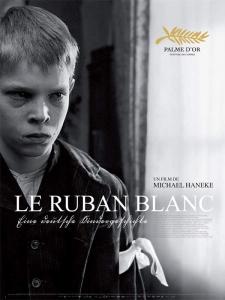 Affiche du film le ruban blanc, de Haneke