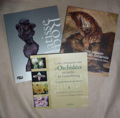 Catalogues achetés à Paris en février 2010