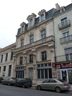 Poitiers, l'ancien cercle industriel, la façade