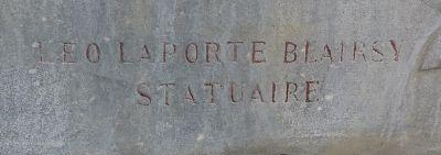 Toulouse, fontaine Belle Paule, signature Laporte Blairsy