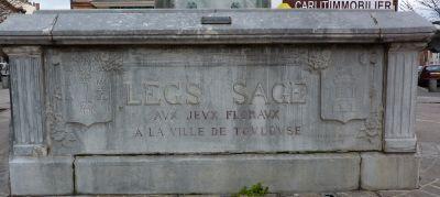 Toulouse, fontaine Belle Paule, dédicace