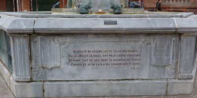 Toulouse, fontaine Belle Paule, un poème en français de Pipert
