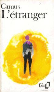 Couverture de l'étranger de Camus en folio de 1986