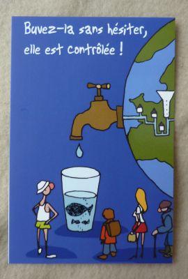 Carte à publicité sur l'eau