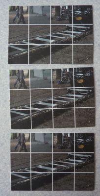 ATC des trois Véro, printemps 2010, série partie de chez Zazimuth, première étape, le fond de Z.