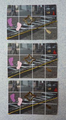 ATC des trois Véro, printemps 2010, série partie de chez Zazimuth, deuxième étape repartie de chez moi