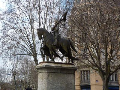 La Jeanne d'Arc d'Antonin Mercié à Toulouse, vue de profil droit