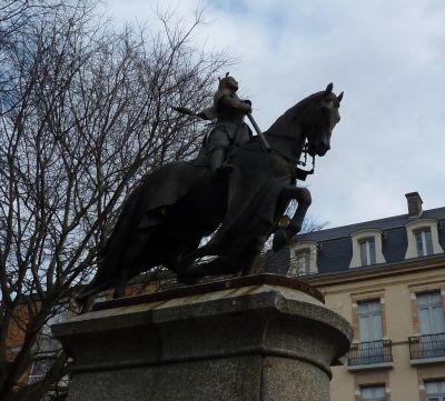 La Jeanne d'Arc d'Antonin Mercié à Toulouse, profil gauche
