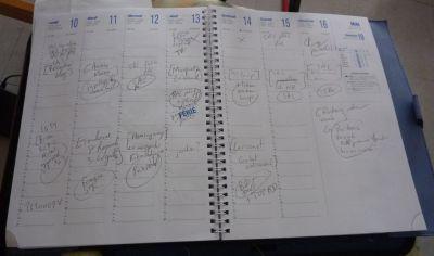 Agenda de programmation du blog