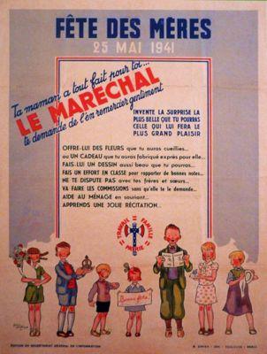 affiche de Alain Saint-Ogan pour la fête des mères de 1941